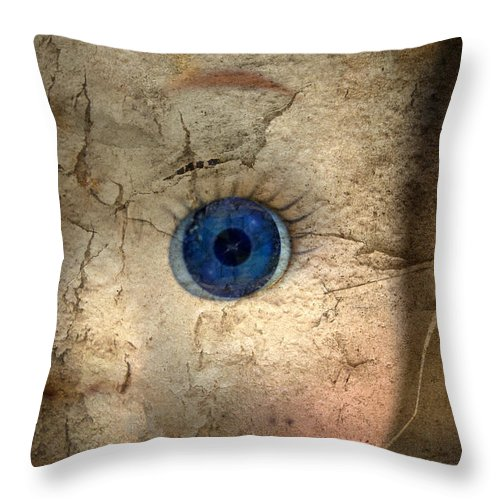 Chucky Throw Pillow featuring the photograph Mask Of Madness by Evelina Kremsdorf