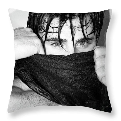 Male Model Throw Pillow featuring the photograph Easy On The Eyes Palm Springs by William Dey