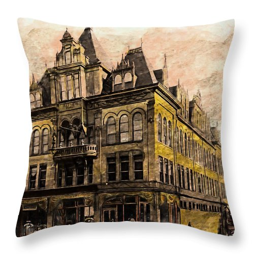 Masonic Lodge Throw Pillow featuring the photograph Masonic Lodge by Lisa and Norman Hall