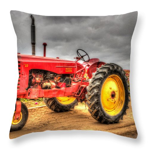 1950 Throw Pillow featuring the photograph Massey by Heidi Smith