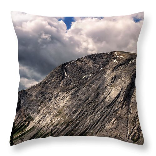 Jasper National Park Throw Pillow featuring the photograph Massif by Kathleen Bishop