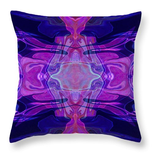 16x9 Throw Pillow featuring the painting Mastering Universal Ideals Abstract Healing Artwork By Omaste Witkowski by Omaste Witkowski