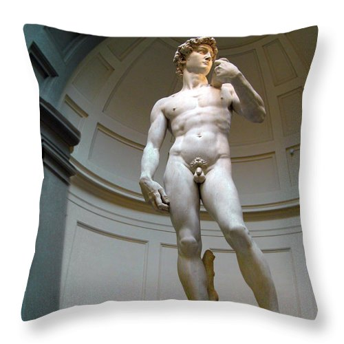 David Throw Pillow featuring the photograph Masterpiece David.florence by Jennie Breeze