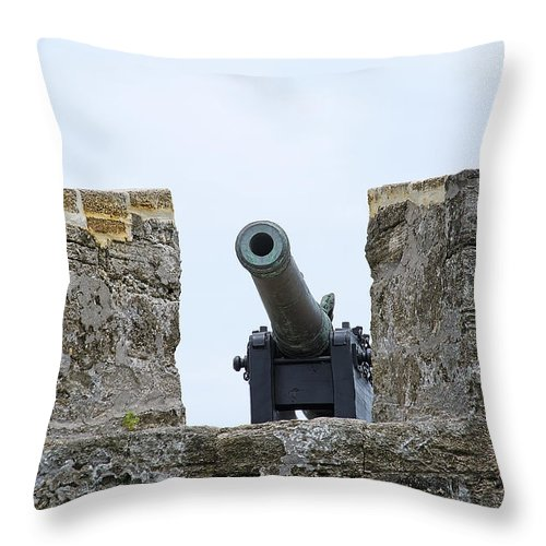 Scenery Throw Pillow featuring the photograph Matanzas Inlet Guardian by Kenneth Albin