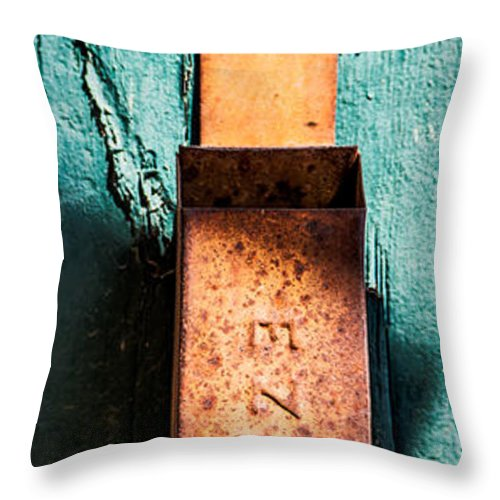 Techatticup Gold Mine Throw Pillow featuring the photograph Match Box by Onyonet Photo Studios