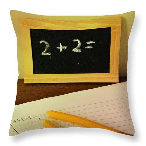 Math Throw Pillow featuring the photograph Math Frustration by Birgit Tyrrell