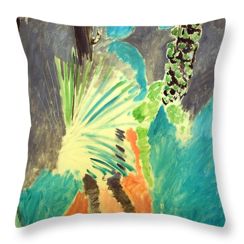 Palm Leaf Throw Pillow featuring the photograph Matisse's Palm Leaf In Tangier by Cora Wandel