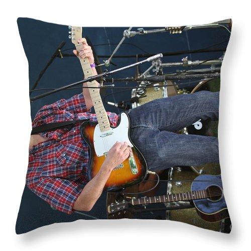 Singer Throw Pillow featuring the photograph Musician Matt Turk by Concert Photos