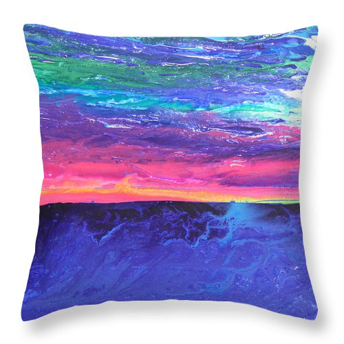 Fusionart Throw Pillow featuring the painting Maui Sunset by Ralph White
