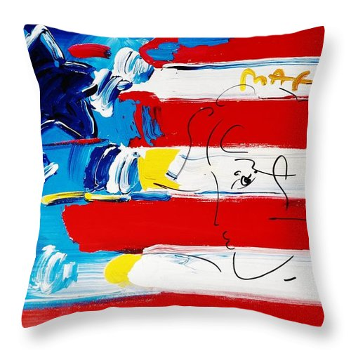 Modern Throw Pillow featuring the photograph Max Stars And Stripes by Rob Hans