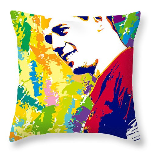 Sample Portrait Done From A Photograph Throw Pillow featuring the digital art Maximus by Irina Effa
