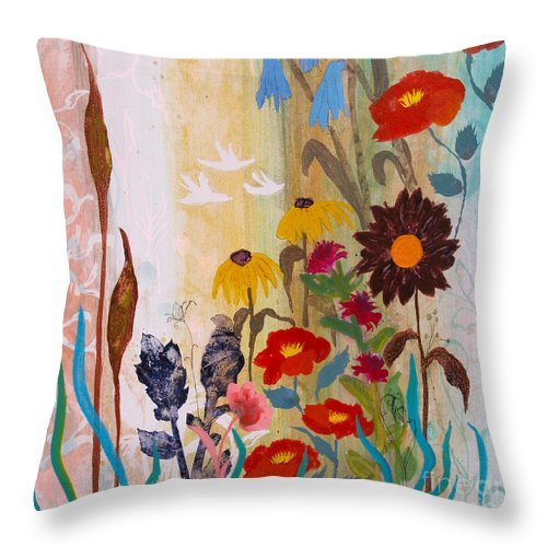 May Throw Pillow featuring the painting May Melody by Robin Maria Pedrero
