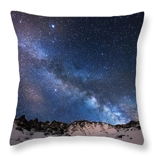 Colorado Throw Pillow featuring the photograph Mayflower Gulch Milky Way by Darren White