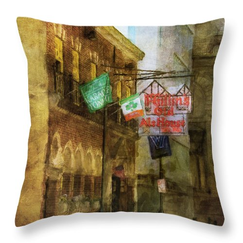 Mcgillins Throw Pillow featuring the photograph Mcgillins Olde Ale House by John Rivera
