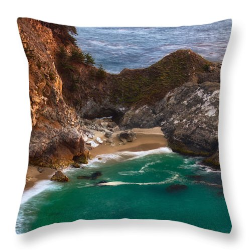 Mcway Falls Throw Pillow featuring the photograph Mcway Falls by Anthony Bonafede