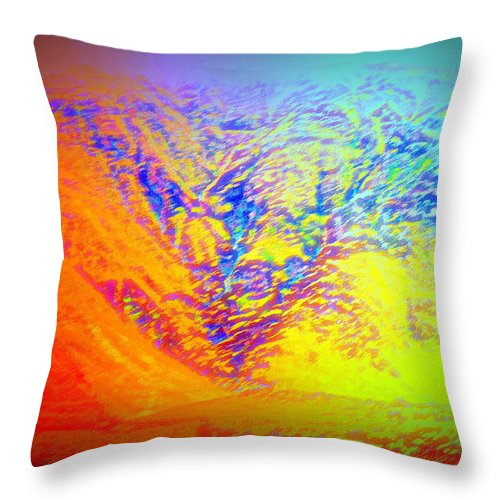 Iceland Throw Pillow featuring the photograph Meet Me On The Mountain If You Dare To  by Hilde Widerberg