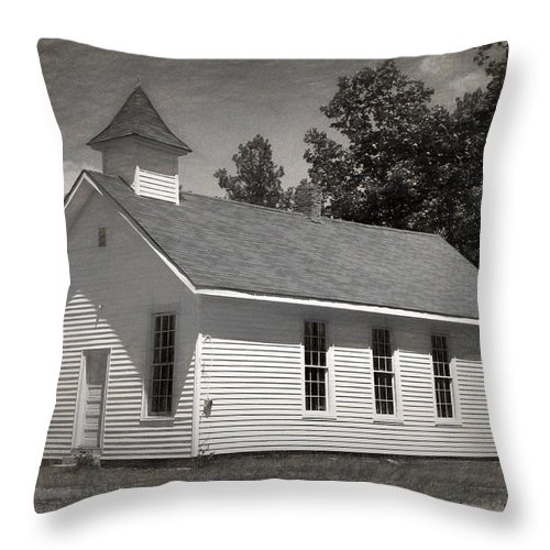 Abandoned Throw Pillow featuring the photograph Meeting House by Richard Rizzo