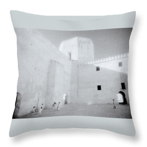 Meknes Throw Pillow featuring the photograph Inside The Casbah by Shaun Higson