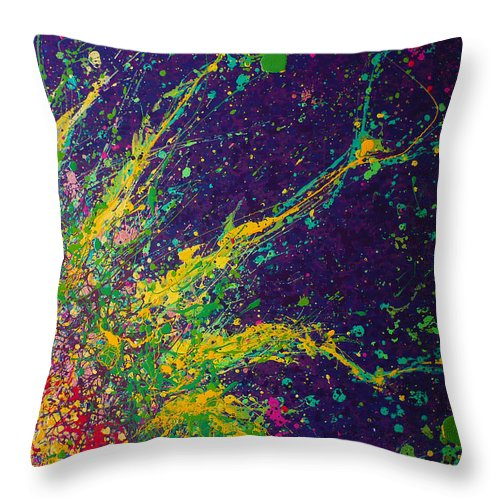 Cell Throw Pillow featuring the painting Membrane by Ericka Herazo