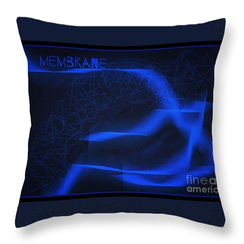 Membrane Throw Pillow featuring the digital art Membrane 3 by Joan-Violet Stretch