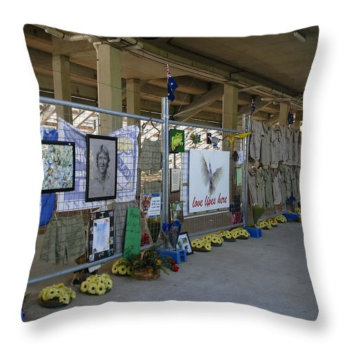 Australia Queensland Qld Throw Pillow featuring the digital art Memorial by Carol Ailles