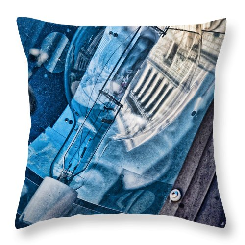 Memorial Throw Pillow featuring the photograph Memorial Reflection by Kristi Swift