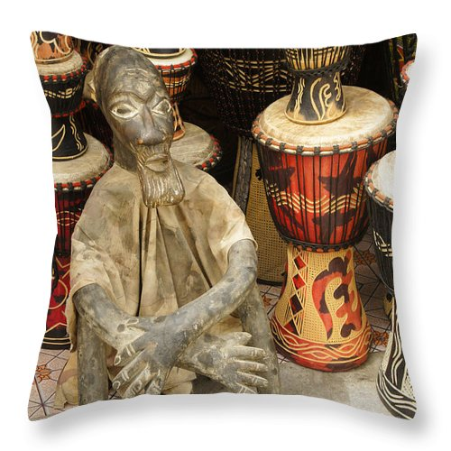 West Africa Throw Pillow featuring the photograph Memories Of Ghana by Michele Burgess