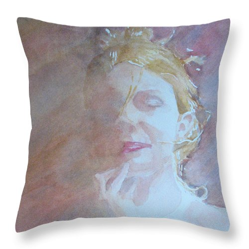 Romance Throw Pillow featuring the painting Memories Of Romance by Jenny Armitage