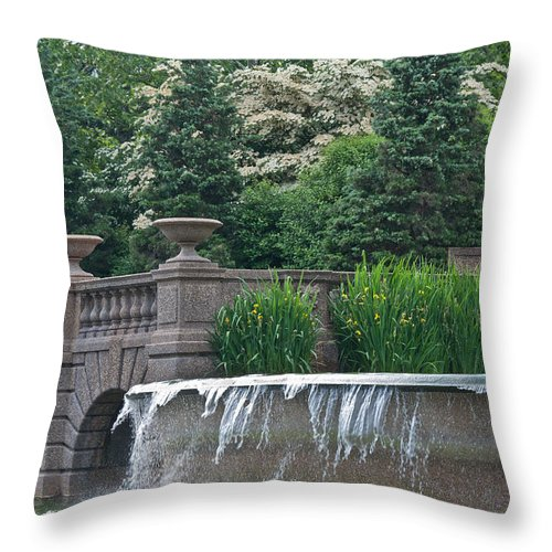 Meridian Hill Throw Pillow featuring the photograph Meridian Hill by Valerie Brown