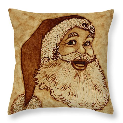 Merry Christmas Throw Pillow featuring the painting Merry Christmas 2 by Georgeta Blanaru