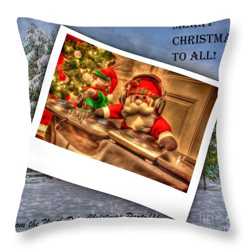 Music Throw Pillow featuring the digital art Merry Christmas by Dan Stone