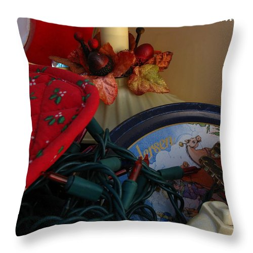 Patzer Throw Pillow featuring the photograph Merry Christmas by Greg Patzer