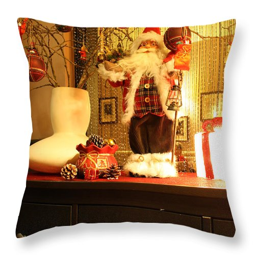 Christmas Throw Pillow featuring the photograph Merry Christmas by Terri Waters