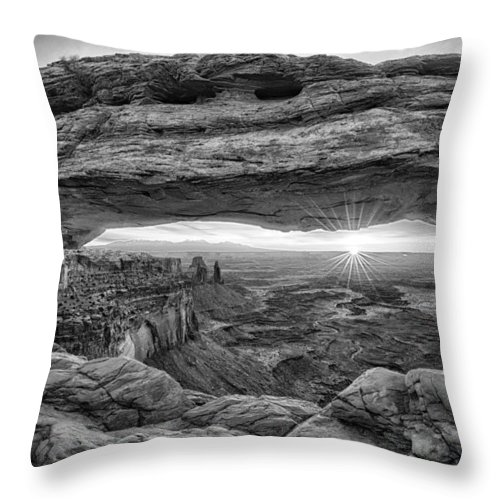 Moab Throw Pillow featuring the photograph Mesa Arch Sunrise by Stacy White