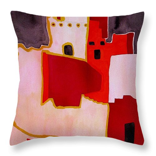 Colorado Plateau Throw Pillow featuring the painting Mesa Verde Original Painting Sold by Sol Luckman