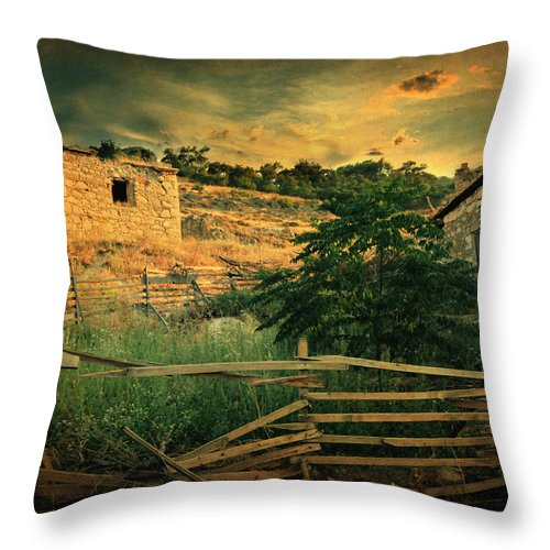 Village Throw Pillow featuring the photograph Mesmer by Zapista