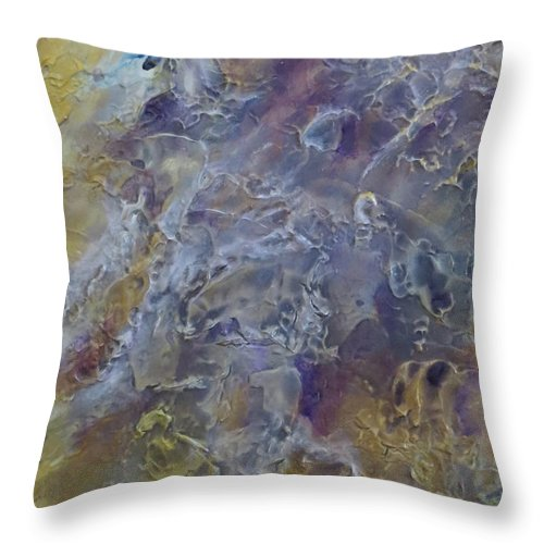 Abstract Throw Pillow featuring the painting Mesmerizing by Soraya Silvestri