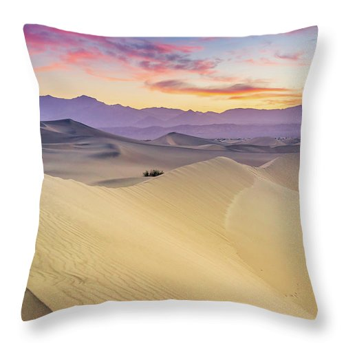 Tranquility Throw Pillow featuring the photograph Mesquite Flat Sand Dunes by Zx1106