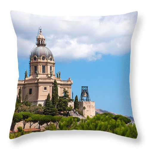 Ancient Throw Pillow featuring the photograph Messina by Gurgen Bakhshetsyan