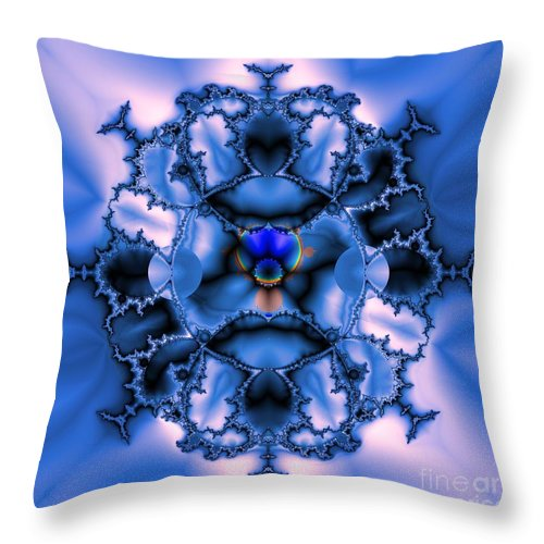 Messing With Mandelbrot Throw Pillow featuring the digital art Messing With Mandelbrot by Elizabeth McTaggart
