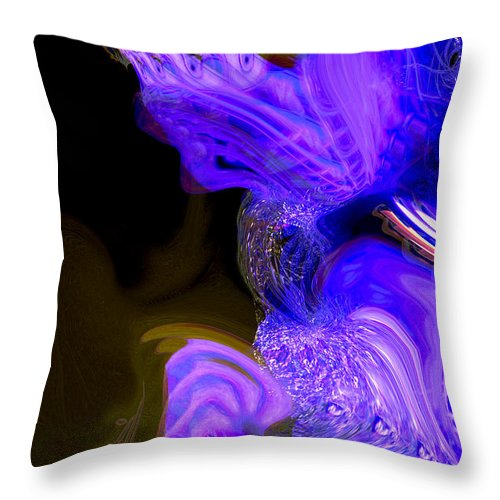 Abstract Throw Pillow featuring the digital art Metamorphose by Richard Thomas