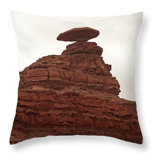 Autumn Throw Pillow featuring the photograph Mexican Hat by Fred Stearns
