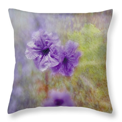 Flowers Throw Pillow featuring the photograph Mexican Petunia by Judy Hall-Folde