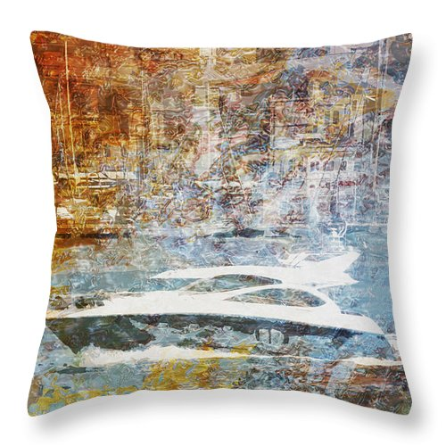 Meditairanee Throw Pillow featuring the drawing Mgl - Gold Mediterrane 05 by MGL Meiklejohn Graphics Licensing