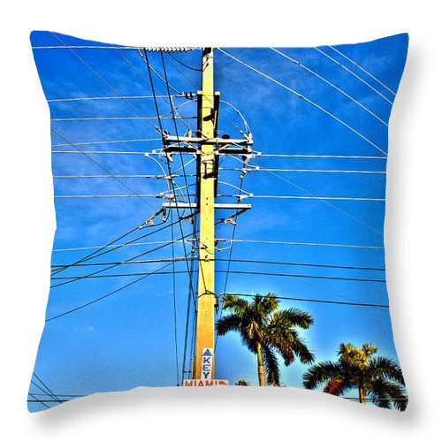 Abby D. Santiago Throw Pillow featuring the photograph Miami Key West by Abby D Santiago
