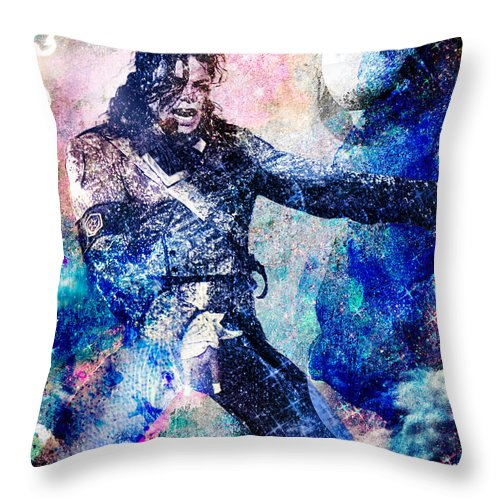 Rock Throw Pillow featuring the painting Michael Jackson Original Painting by Ryan Rock Artist