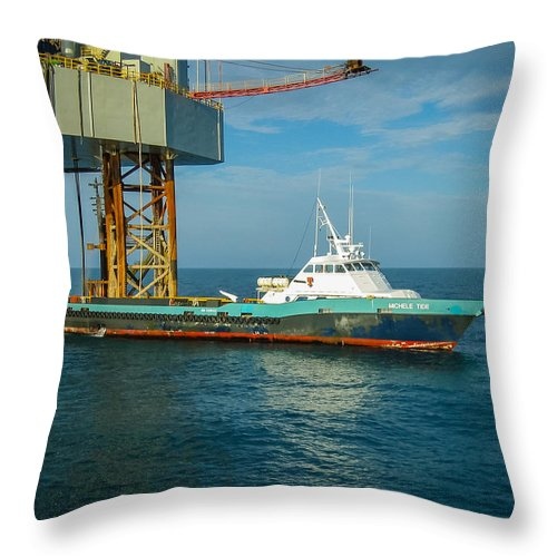 Done Throw Pillow featuring the photograph Michelle Tide by Gregory Daley MPSA