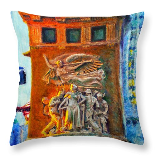 Chicago Throw Pillow featuring the painting Michigan Avenue Bridge by Michael Durst
