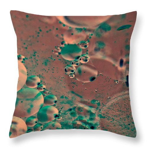 Art Throw Pillow featuring the photograph Microorganisms by Charles Dobbs