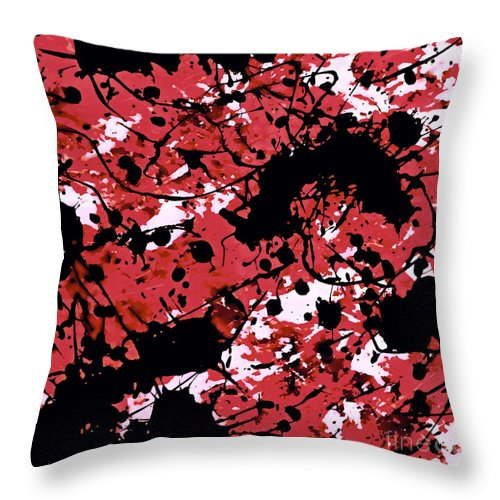 Acrylic Abstract Painting Throw Pillow featuring the digital art Microscopic Insecticide 5 by Tim Richards